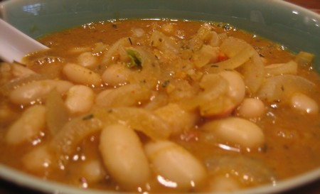 Cabbage & Cannellini Bean Soup With Sausage