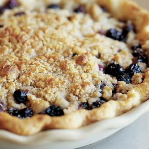 Blueberry Crumble Pie - Tiny New York Kitchen