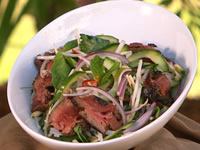 Thai Noodle Salad With Sliced Beef
