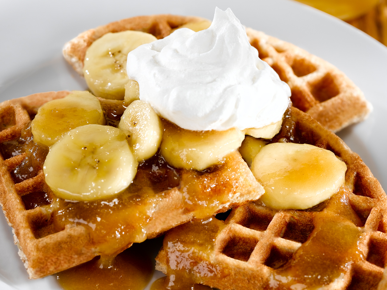 Banana Sour Cream Waffles - Tiny New York Kitchen