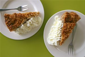 Saint Swithin's Day Apple Crumble Pie