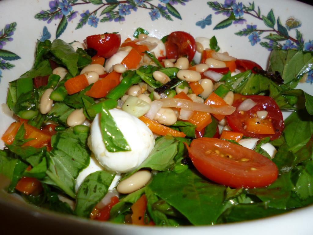 Mozzarella & White Bean Salad