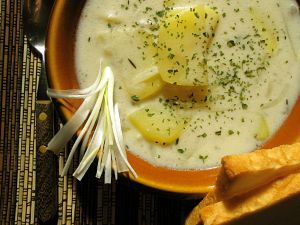 Rustic Potato Cheddar Soup