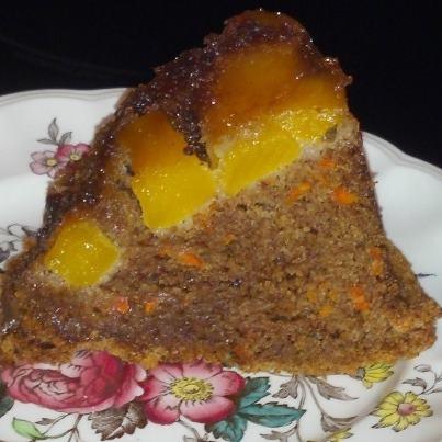 Mango Upside Down Carrot Cake