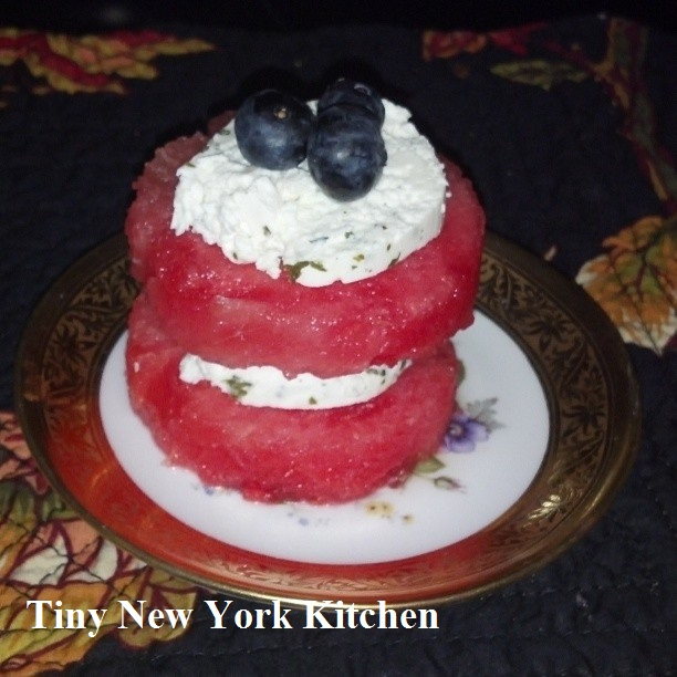Red White & Blueberry (watermelon goat cheese and blueberries)