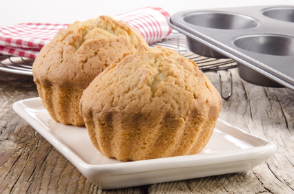home made muffins on a plate