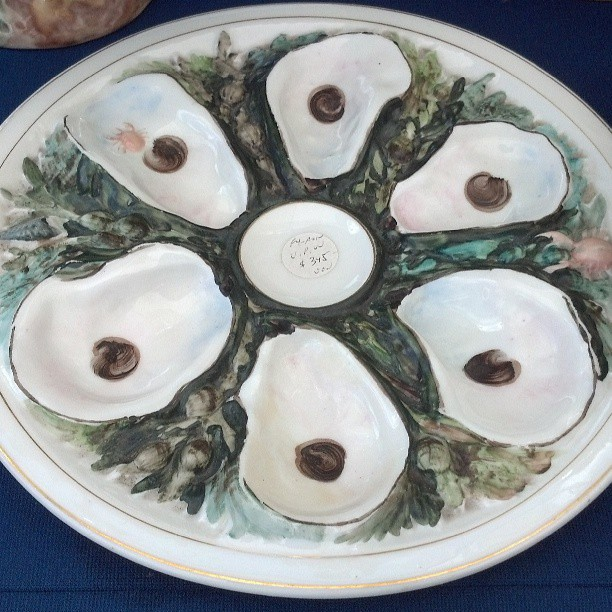vintage Oyster Plate