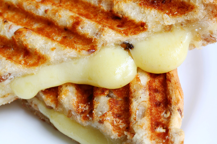 Closeup of Grilled Cheese Sandwich