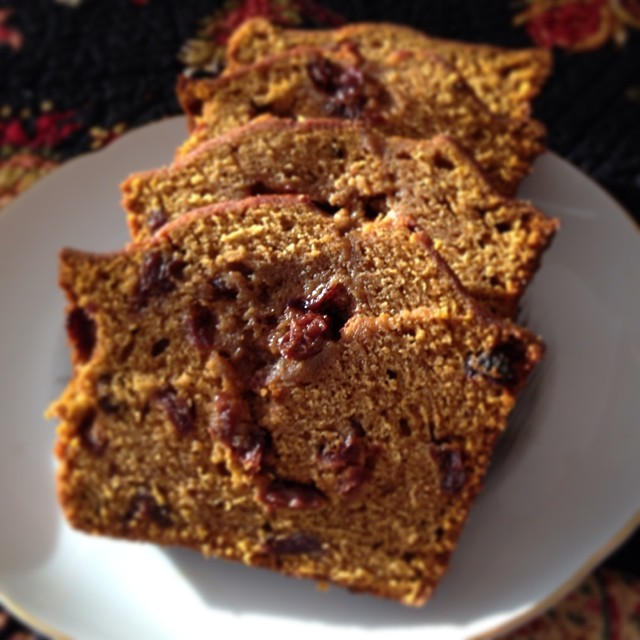 Holiday Pumpkin Cherry Bread