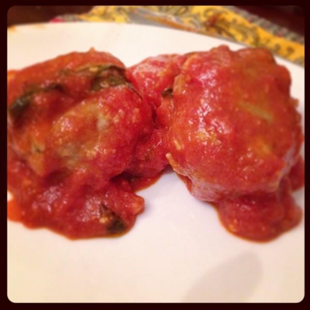Roman Meatballs In Fresh Tomato Sauce