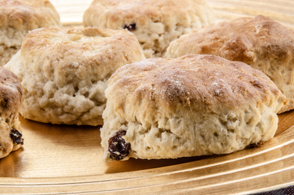 Currant Cream Scones - Tiny New York Kitchen