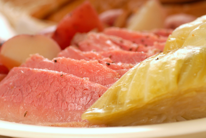 Traditional Corned Beef & Cabbage Dinner