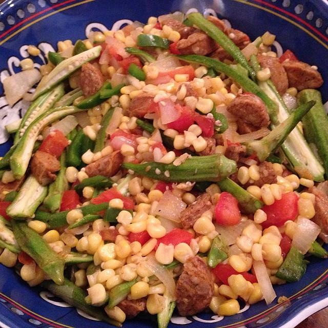 Okra & Corn Maque Choux