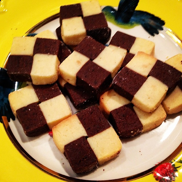 Chocolate Checkerboard Cookies