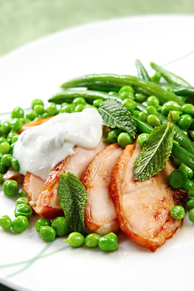 Minted Fresh Peas And Beans