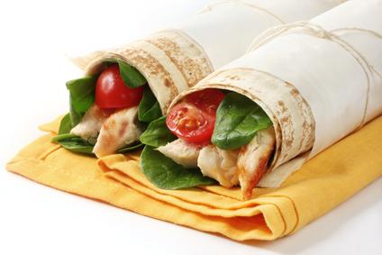 Chicken & Spinach Wraps
