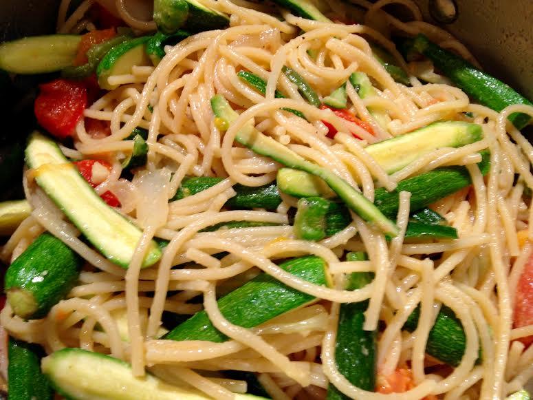 Spaghetti With Tomatoes & Baby Zucchini
