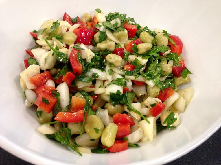 Fava Bean & Red Pepper Salad