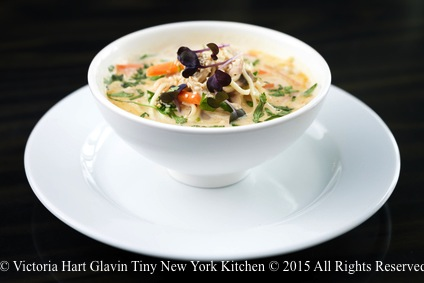Thai Coconut Chicken Noodle Soup - Tiny New York Kitchen