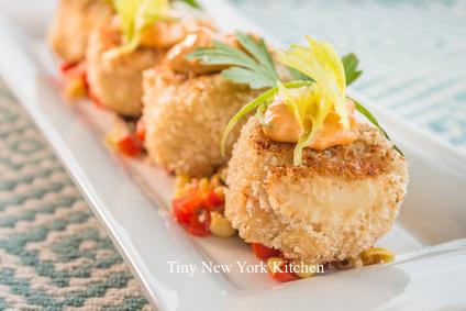 Zesty Orange Crab Cakes With Tomato Corn Relish