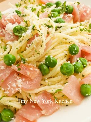 Spaghetti With Peas, Pancetta & Lemon