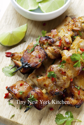 Lime Marinated Chicken Skewers