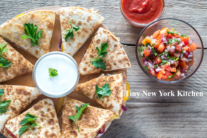 Cheese & Red Onion Quesadillas