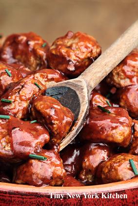Game Day Mini BBQ Meatballs