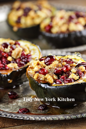 Acorn Squash With Cranberries