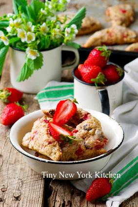 Strawberry Chocolate Scones