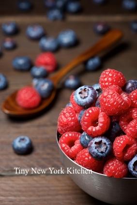 Blueberry Raspberry Pudding Cake