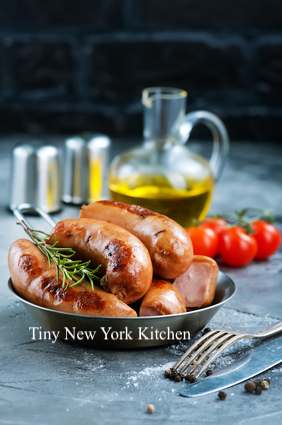 Beer Soaked Sausages & Onions