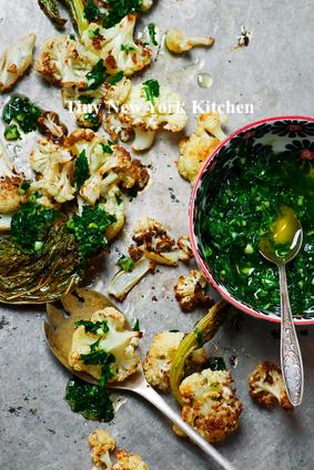 Roasted Cauliflower With Chimichurri Sauce