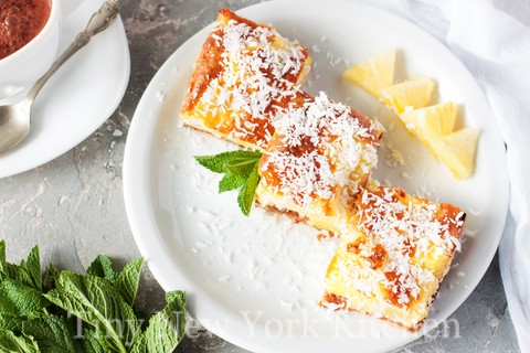 Coconut Pineapple Bars