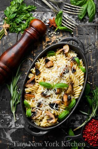 Pasta With Mushrooms & Sausage