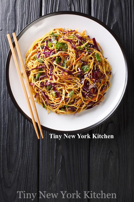 Chilled Noodle Salad With Sriracha Peanut Sauce copy