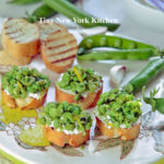 Spring Pea & Goat Cheese Crostini copy
