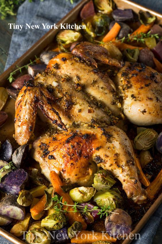 Spatchcock Harissa Chicken