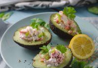 Avocados With Crab Salad