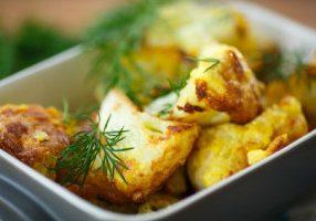 Balsamic & Parmesan Roasted Cauliflower