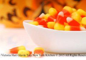 Candy Corn Crispy Treats