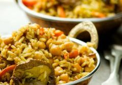 Chickpea & Mushroom Rice Pilaf