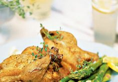 Cornish Game Hens with Herbs Butter