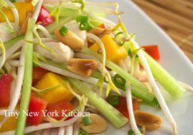 Crunchy Chicken Salad With Ginger Garlic Dressing