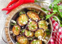 Italian Eggplant With Garlic