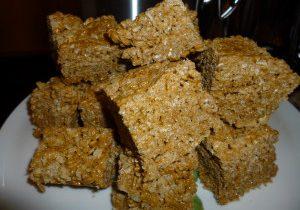 Victoria's Gingerbread Rice Krispie Treats