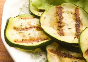 Grilled Zucchini With Rosemary & Feta
