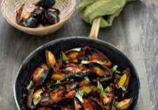Mussels With Tomato & Chorizo Broth