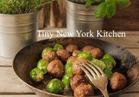 Pan Roasted Lamb Meatballs With Brussels Sprouts