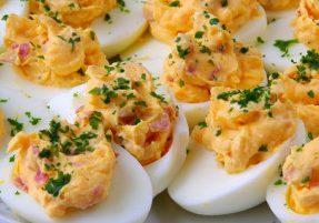 Pancetta Deviled Eggs